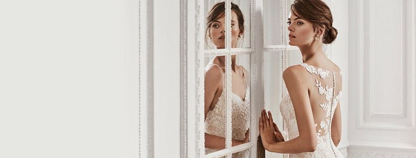 Focus on the gown: 5 Things to keep in mind when wedding gown shopping. Desktop Image